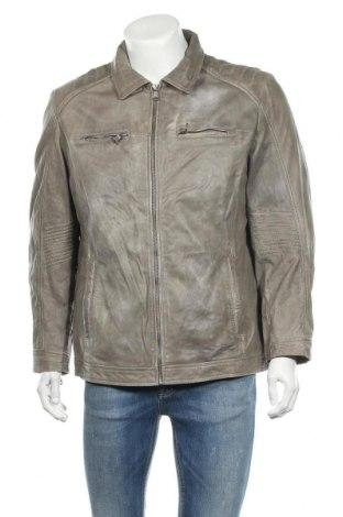 Ανδρικό δερμάτινο μπουφάν Walbusch, Μέγεθος L, Χρώμα Γκρί, Γνήσιο δέρμα, Τιμή 43,35€