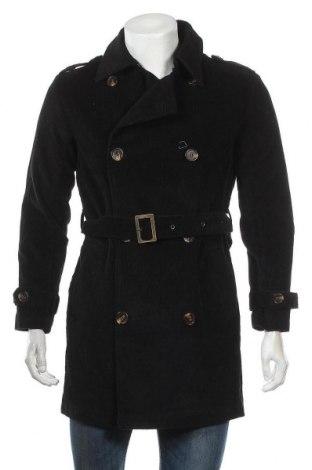 Ανδρικά παλτό About You, Μέγεθος M, Χρώμα Μαύρο, Βαμβάκι, Τιμή 20,75€