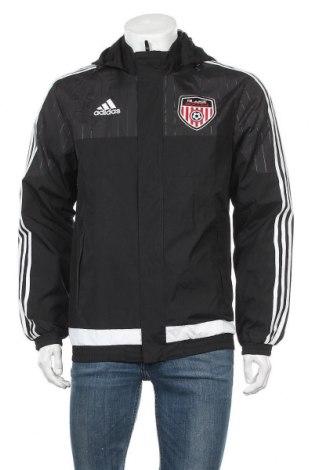 Ανδρικό αθλητικό μπουφάν Adidas, Μέγεθος S, Χρώμα Μαύρο, Πολυεστέρας, Τιμή 46,01€