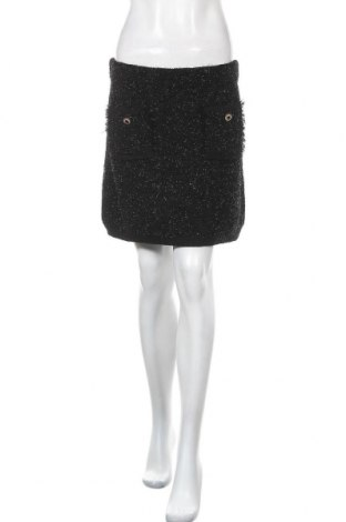 Пола Zara Knitwear, Размер L, Цвят Черен, 97% полиестер, 3% метални нишки, Цена 6,34лв.