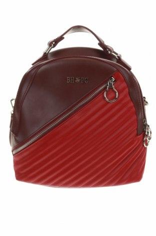 Раница Beverly Hills Polo Club, Цвят Червен, Еко кожа, текстил, Цена 41,76лв.