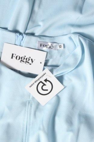 Рокля Foggy, Размер XS, Цвят Син, 70% вискоза, 30% полиестер, Цена 44,25лв.