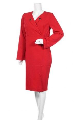 Рокля Naoko, Размер XL, Цвят Червен, 60% полиестер, 40% вискоза, Цена 23,70лв.