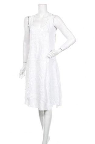 Рокля Puro Lino, Размер XL, Цвят Бял, 100% лен, Цена 40,28лв.