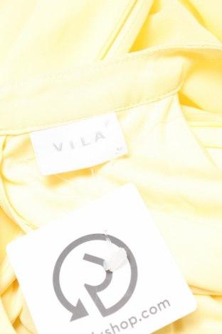 Рокля Vila, Размер L, Цвят Жълт, Полиестер, Цена 54,00лв.