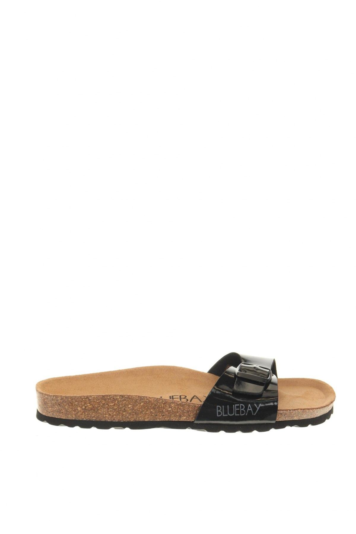 Чехли Blue Bay, Размер 38, Цвят Черен, Еко кожа, Цена 44,80лв.