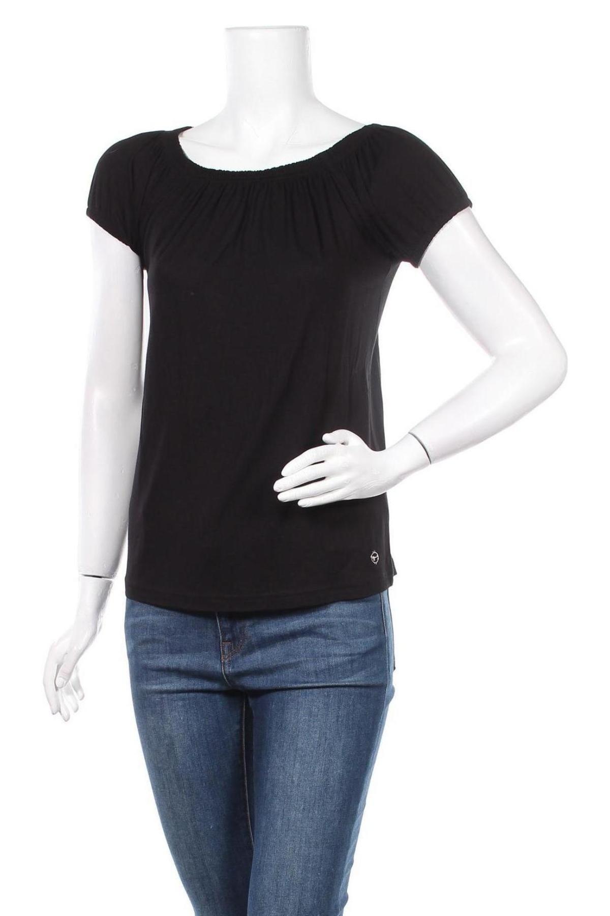 Дамска блуза Tamaris, Размер XS, Цвят Черен, Цена 24,00лв.