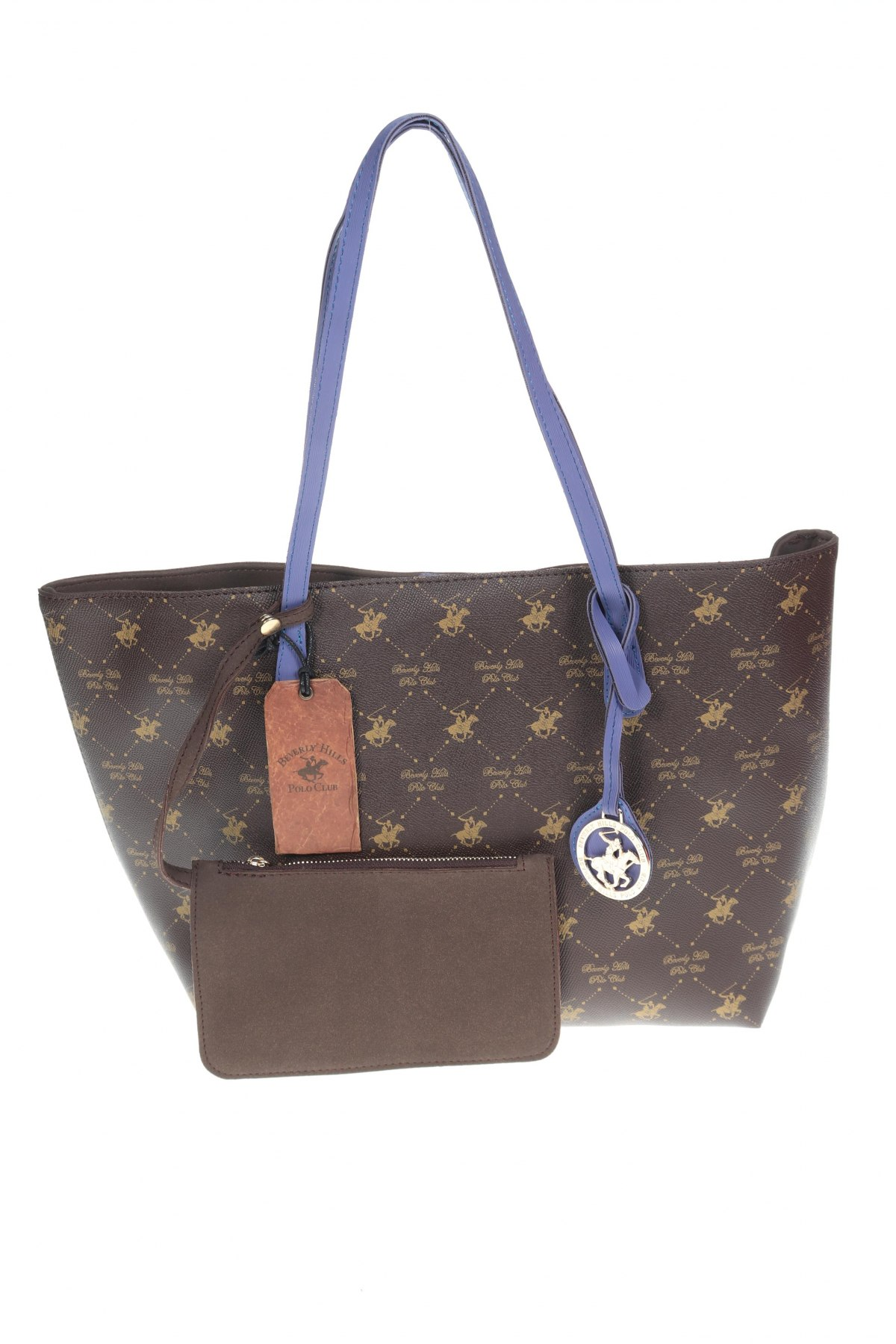 Дамска чанта Beverly Hills Polo Club, Цвят Кафяв, Еко кожа, Цена 44,55лв.