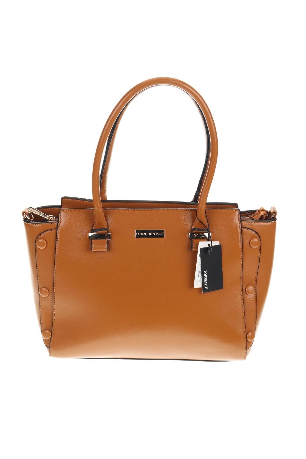 Дамска чанта Torrente, Цвят Кафяв, Еко кожа, Цена 126,75лв.