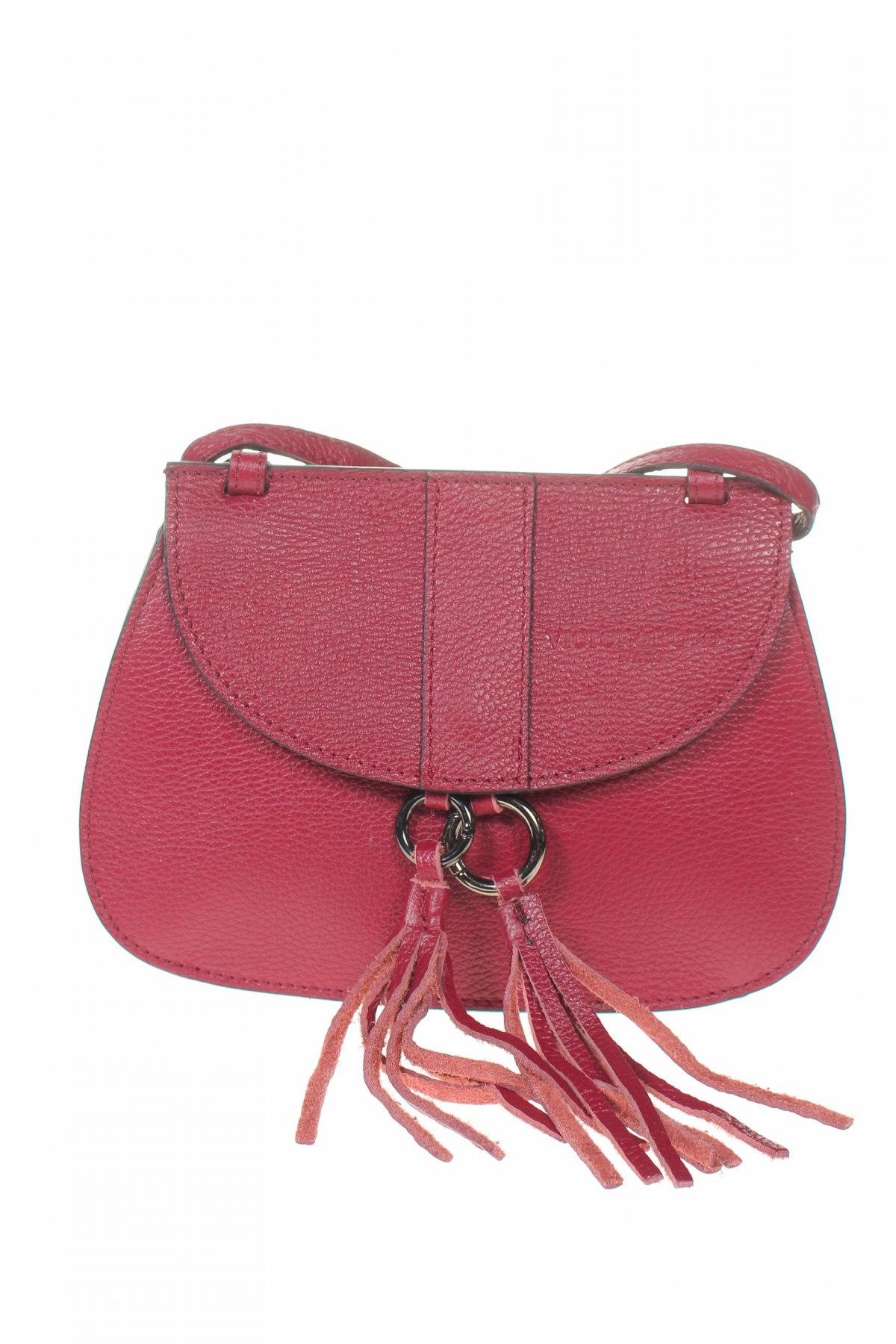 Дамска чанта VICTOR&HUGO, Цвят Лилав, Естествена кожа, Цена 216,75лв.