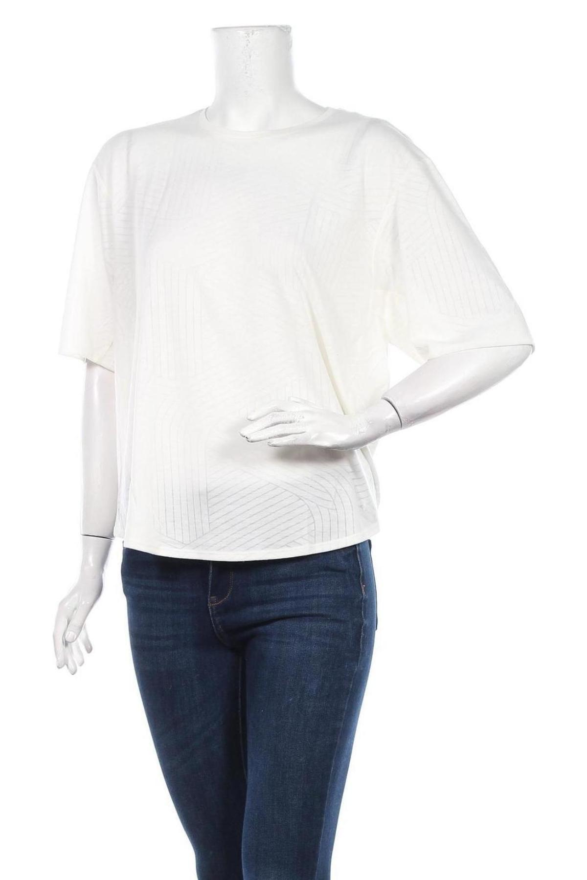 Дамска тениска Adidas, Размер L, Цвят Бежов, 68% полиестер, 32% вискоза, Цена 50,70лв.