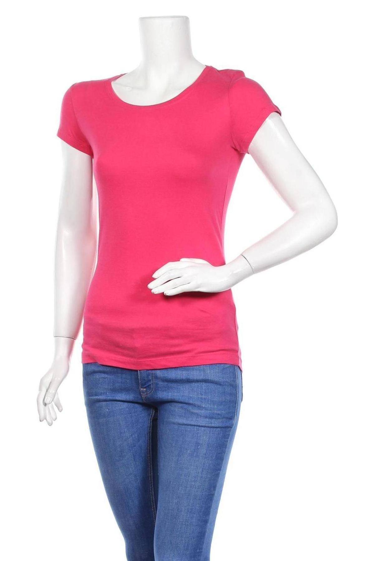 Дамска тениска Bershka, Размер M, Цвят Розов, Памук, Цена 29,00лв.