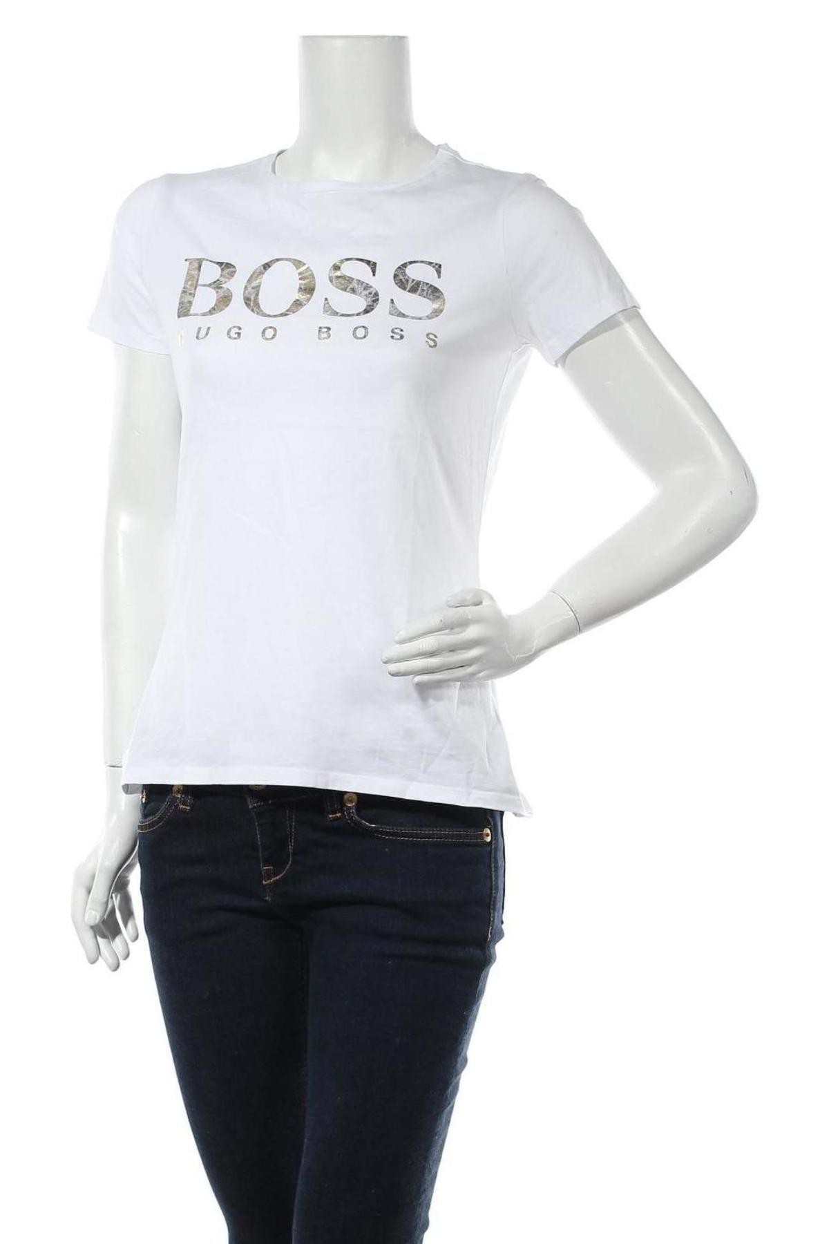 Дамска тениска Boss, Размер M, Цвят Бял, Цена 94,52лв.