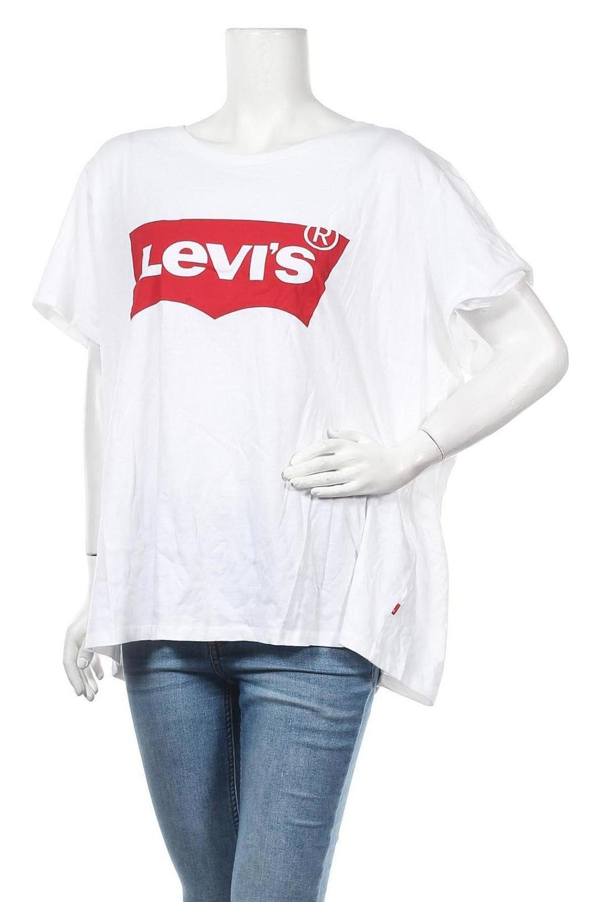 Дамска тениска Levi's, Размер 3XL, Цвят Бял, Памук, Цена 40,88лв.