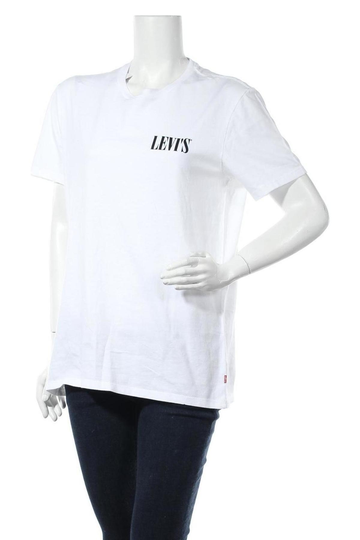 Дамска тениска Levi's, Размер L, Цвят Бял, Памук, Цена 45,24лв.