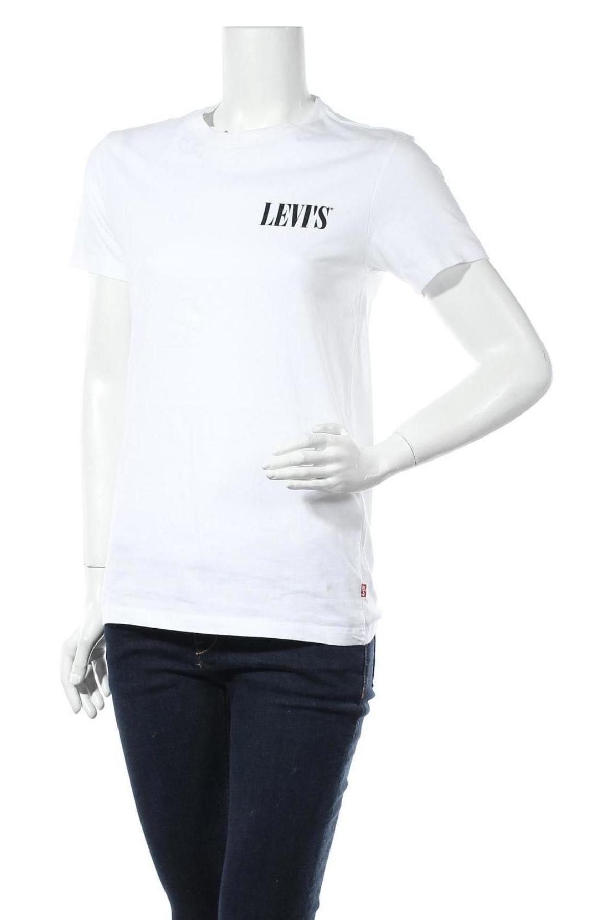 Дамска тениска Levi's, Размер S, Цвят Бял, Памук, Цена 45,24лв.