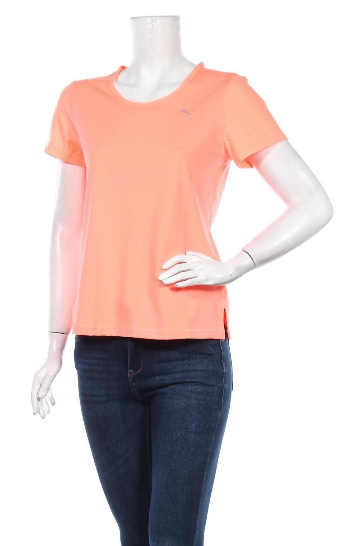Дамска тениска PUMA, Размер M, Цвят Розов, 90% полиестер, 10% еластан, Цена 22,40лв.