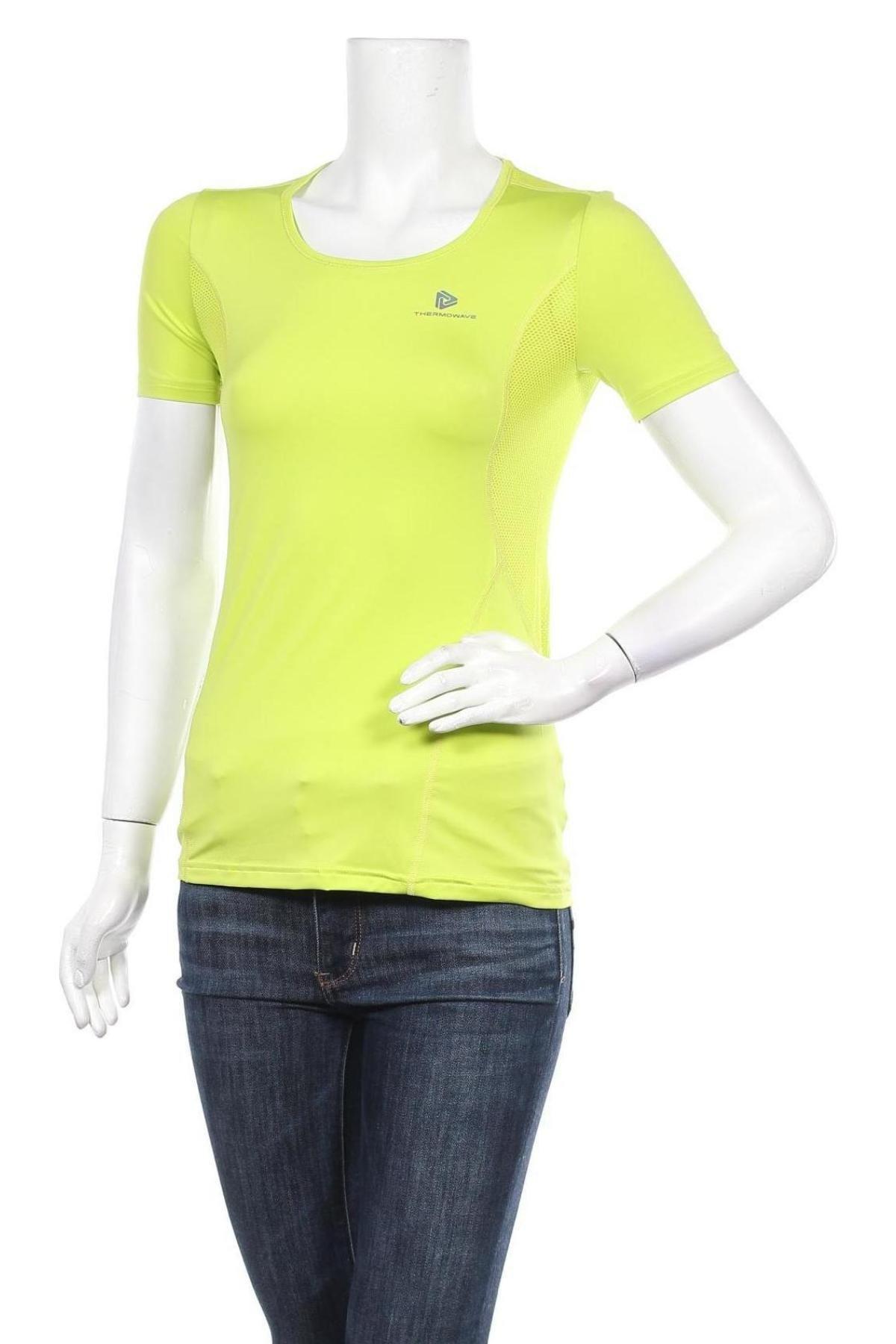 Дамска тениска Thermowave, Размер XS, Цвят Зелен, 86% полиестер, 14% еластан, Цена 21,07лв.