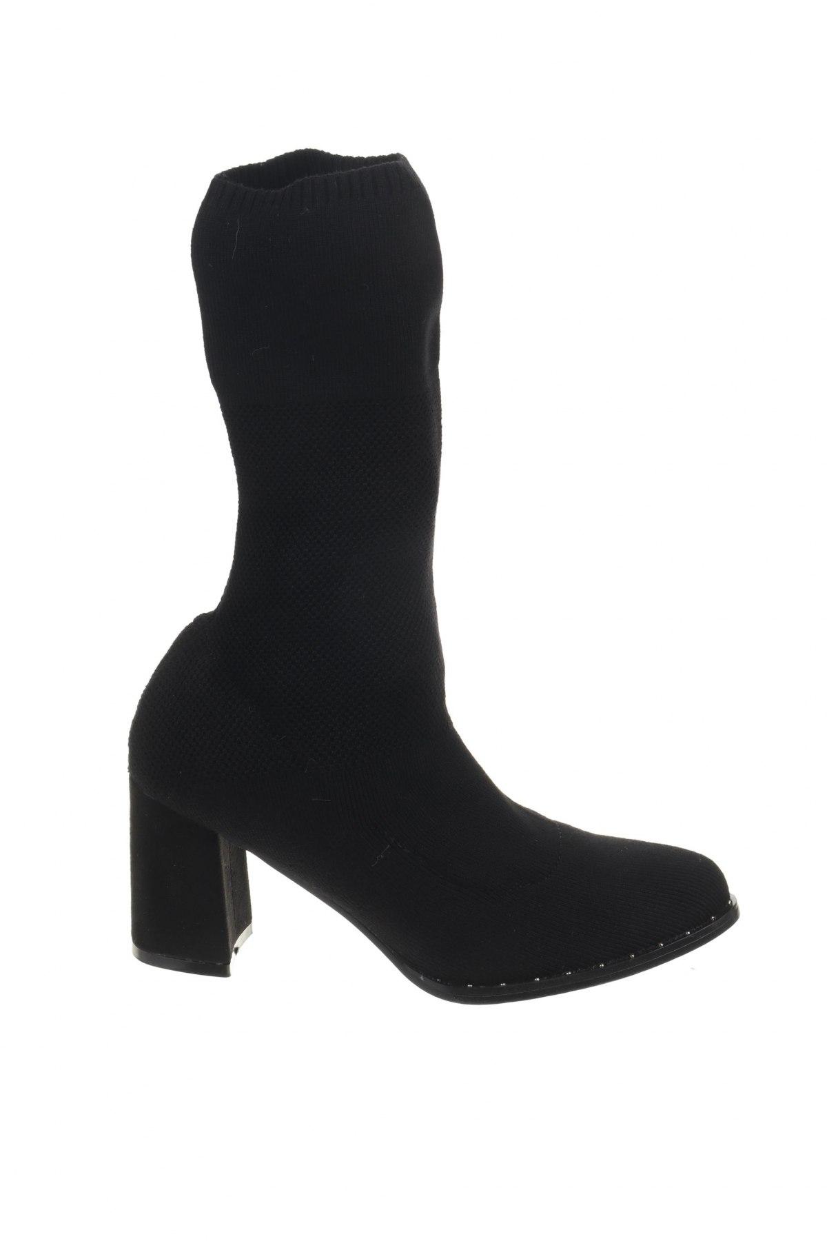 Дамски ботуши Coco Perla, Размер 38, Цвят Черен, Текстил, Цена 15,80лв.