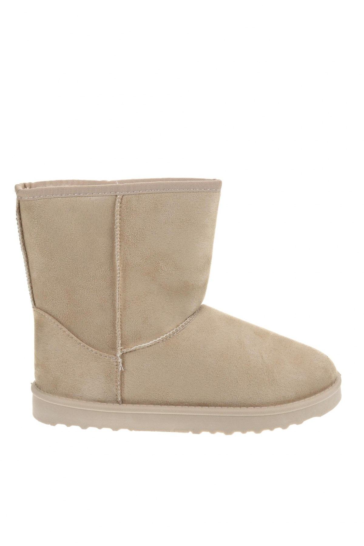Γυναικείες μπότες Super mode, Μέγεθος 40, Χρώμα  Μπέζ, Κλωστοϋφαντουργικά προϊόντα, Τιμή 34,41€