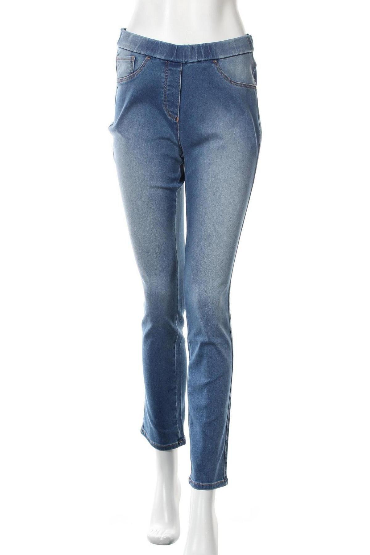 Дамски дънки, Размер M, Цвят Син, 65% памук, 33% полиамид, 2% еластан, Цена 20,16лв.