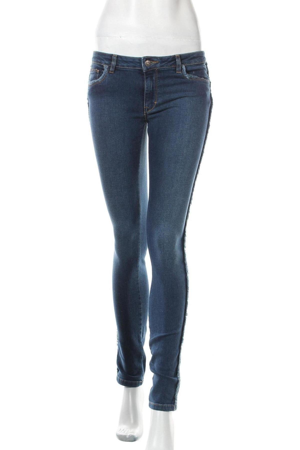 Дамски дънки BelAir, Размер S, Цвят Син, 99% памук, 1% еластан, Цена 20,86лв.