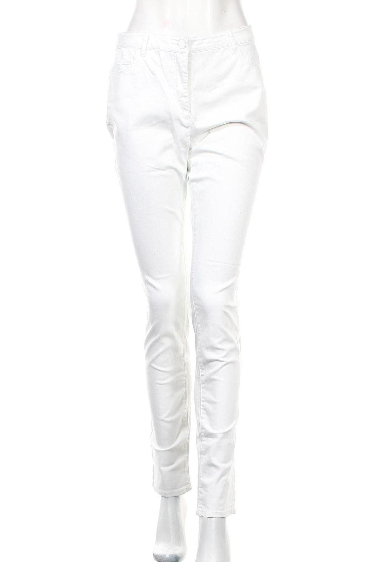 Дамски панталон Balsamik, Размер M, Цвят Бял, 98% памук, 2% еластан, Цена 17,99лв.