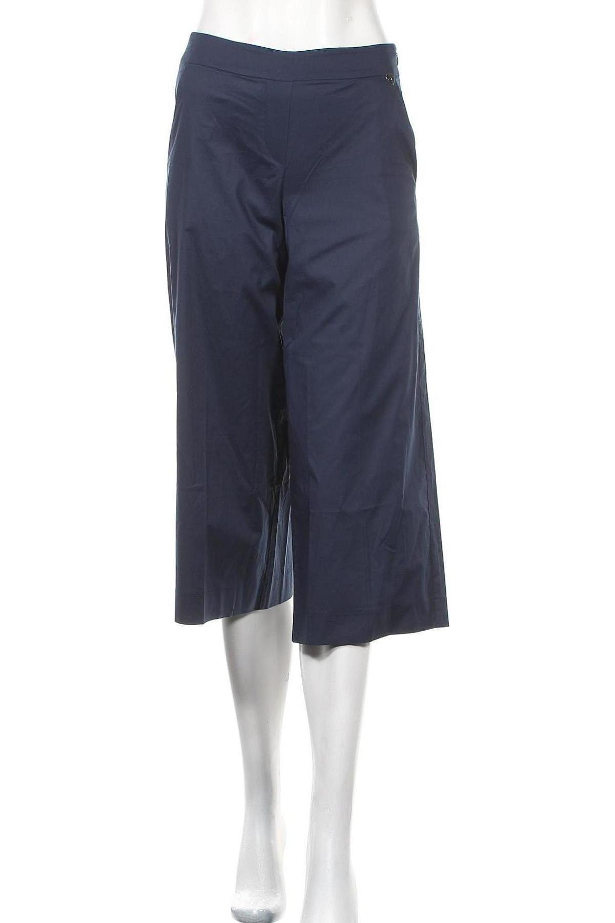 Дамски панталон TWINSET, Размер M, Цвят Син, 97% памук, 3% еластан, Цена 20,64лв.