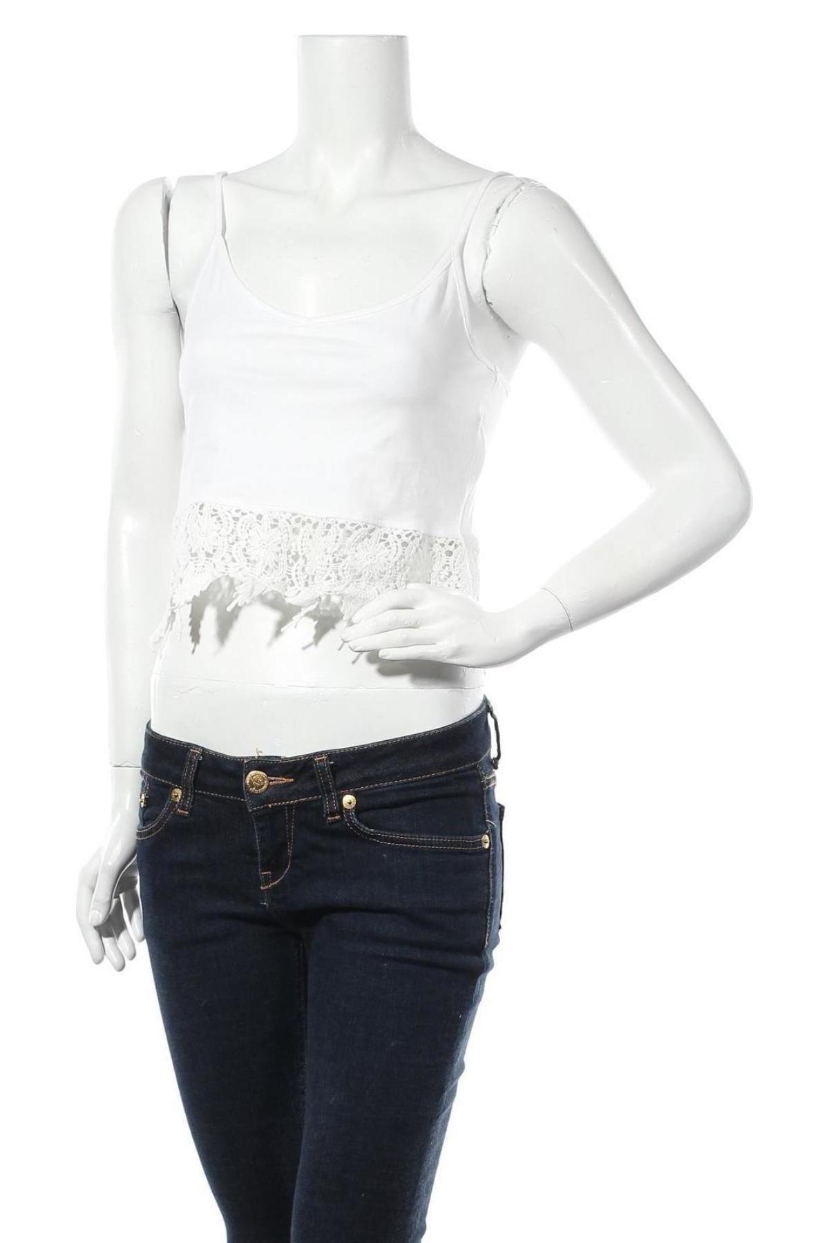 Дамски потник Hailys, Размер M, Цвят Бял, 95% памук, 5% еластан, Цена 24,00лв.