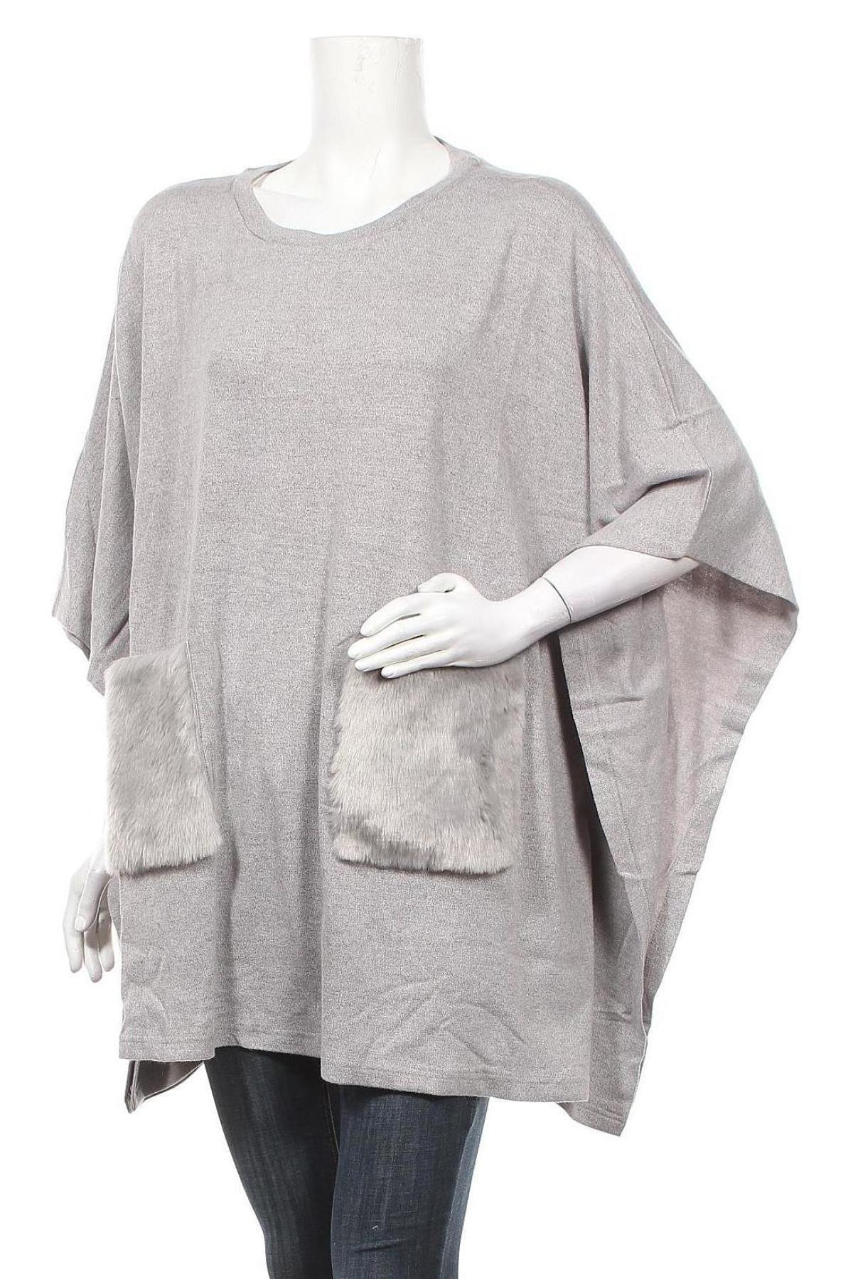 Γυναικείο πουλόβερ Almatrichi, Μέγεθος M, Χρώμα Γκρί, 50% βισκόζη, 50% πολυαμίδη, Τιμή 25,27€
