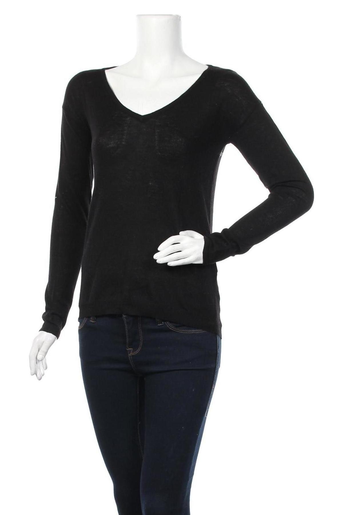 Γυναικείο πουλόβερ Cache Cache, Μέγεθος XS, Χρώμα Μαύρο, 51% πολυεστέρας, 21%ακρυλικό, 20% πολυαμίδη, 8% μαλλί, Τιμή 6,96€