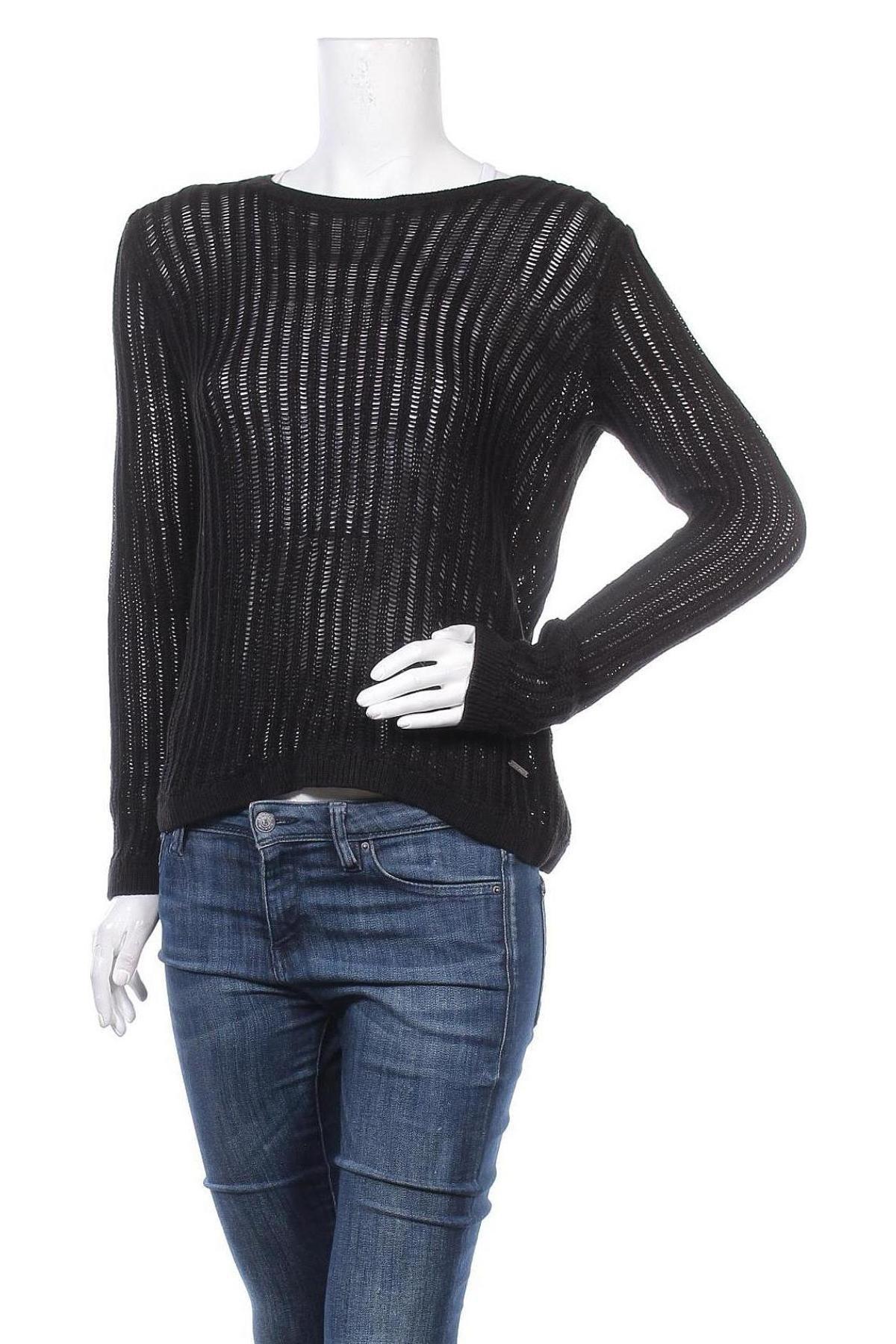 Γυναικείο πουλόβερ Lee Cooper, Μέγεθος M, Χρώμα Μαύρο, Ακρυλικό, βαμβάκι, Τιμή 10,18€