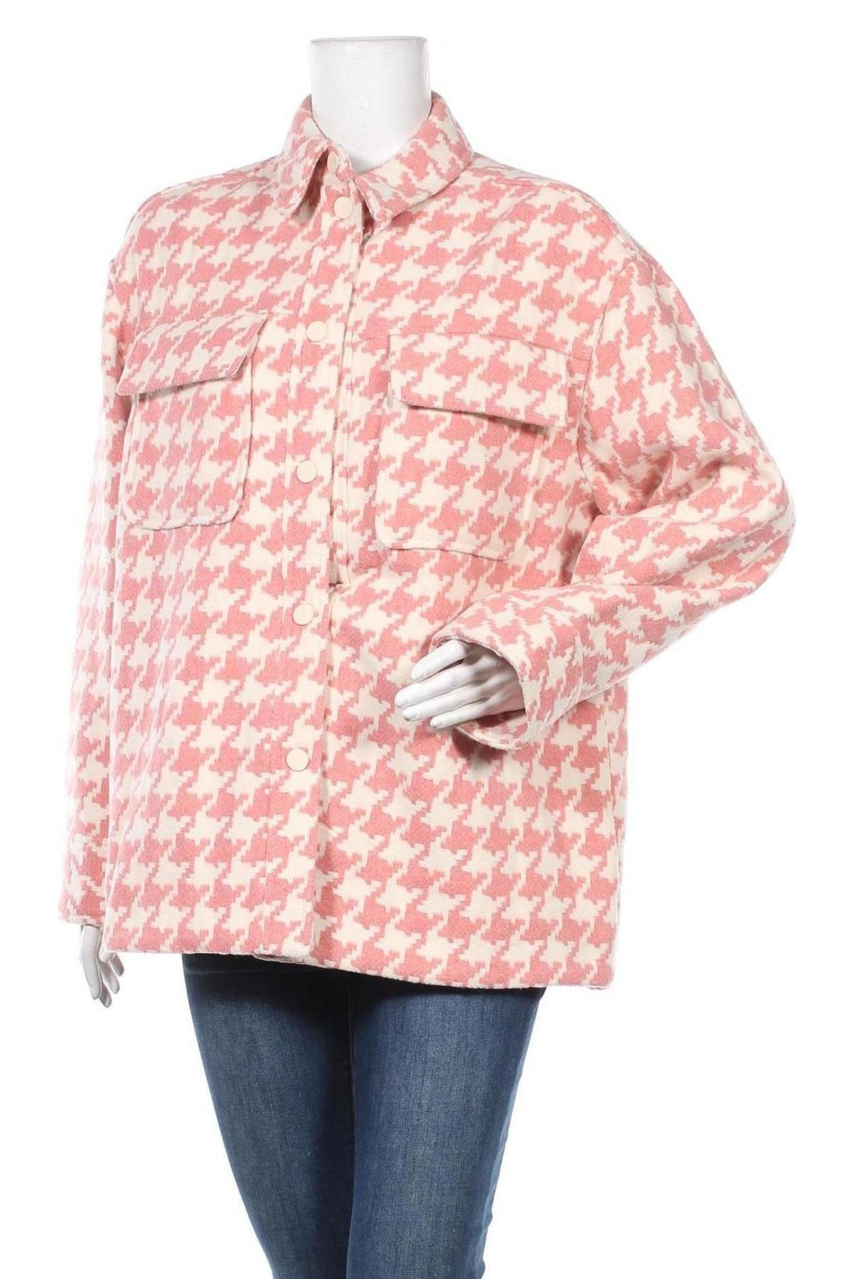 Дамско палто Edited, Размер L, Цвят Розов, 70% полиестер, 30% вълна, Цена 55,77лв.