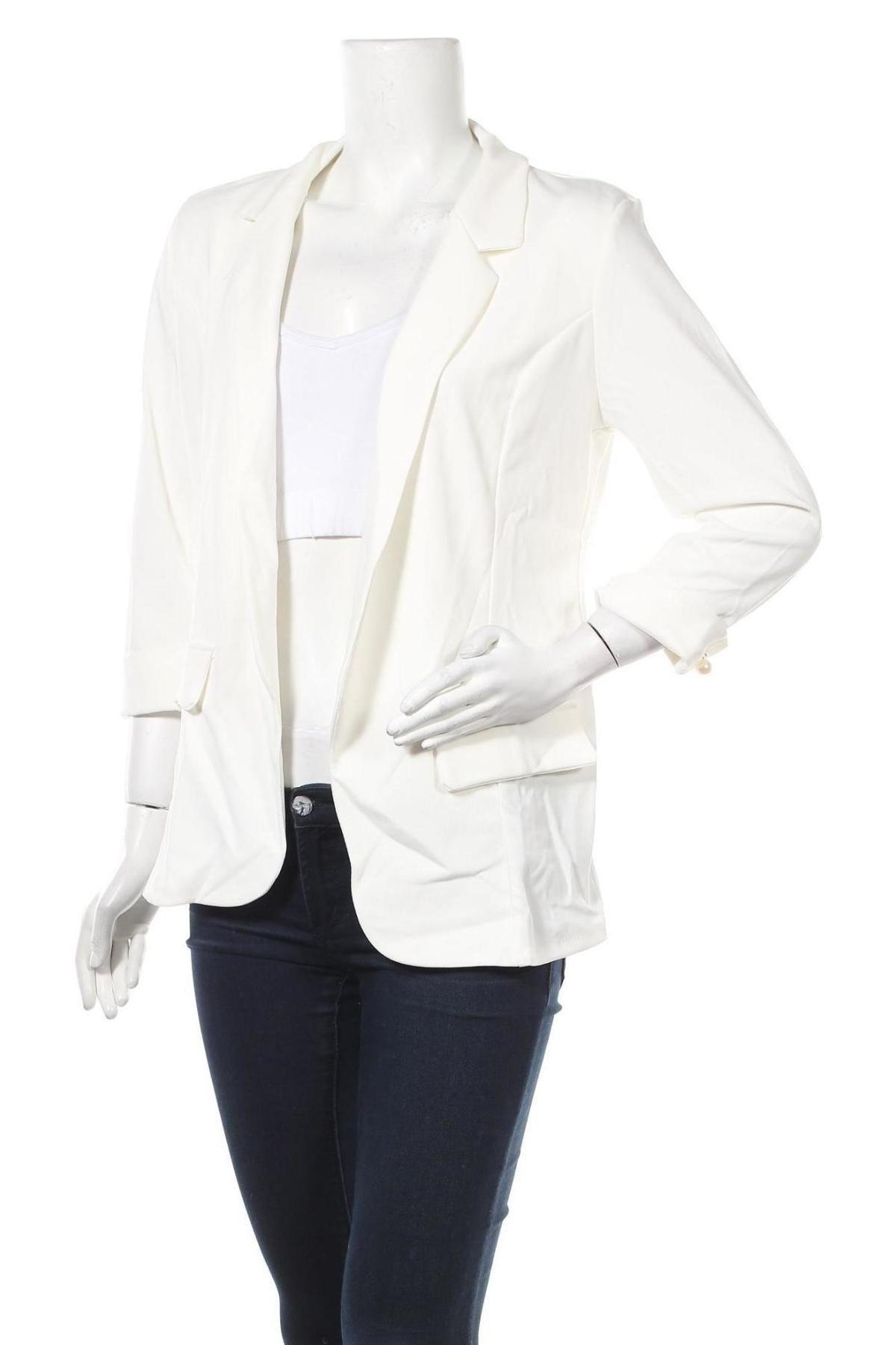 Дамско сако, Размер M, Цвят Бял, 95% вискоза, 5% еластан, Цена 36,00лв.