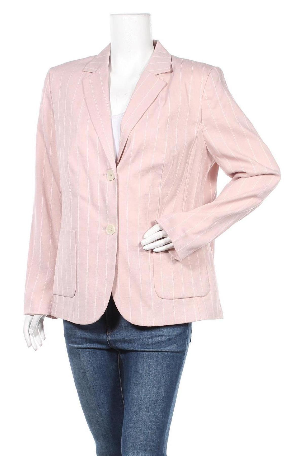 Дамско сако Mona, Размер XL, Цвят Розов, 51% полиамид, 45% вискоза, 2% полиестер, 2% еластан, Цена 35,55лв.