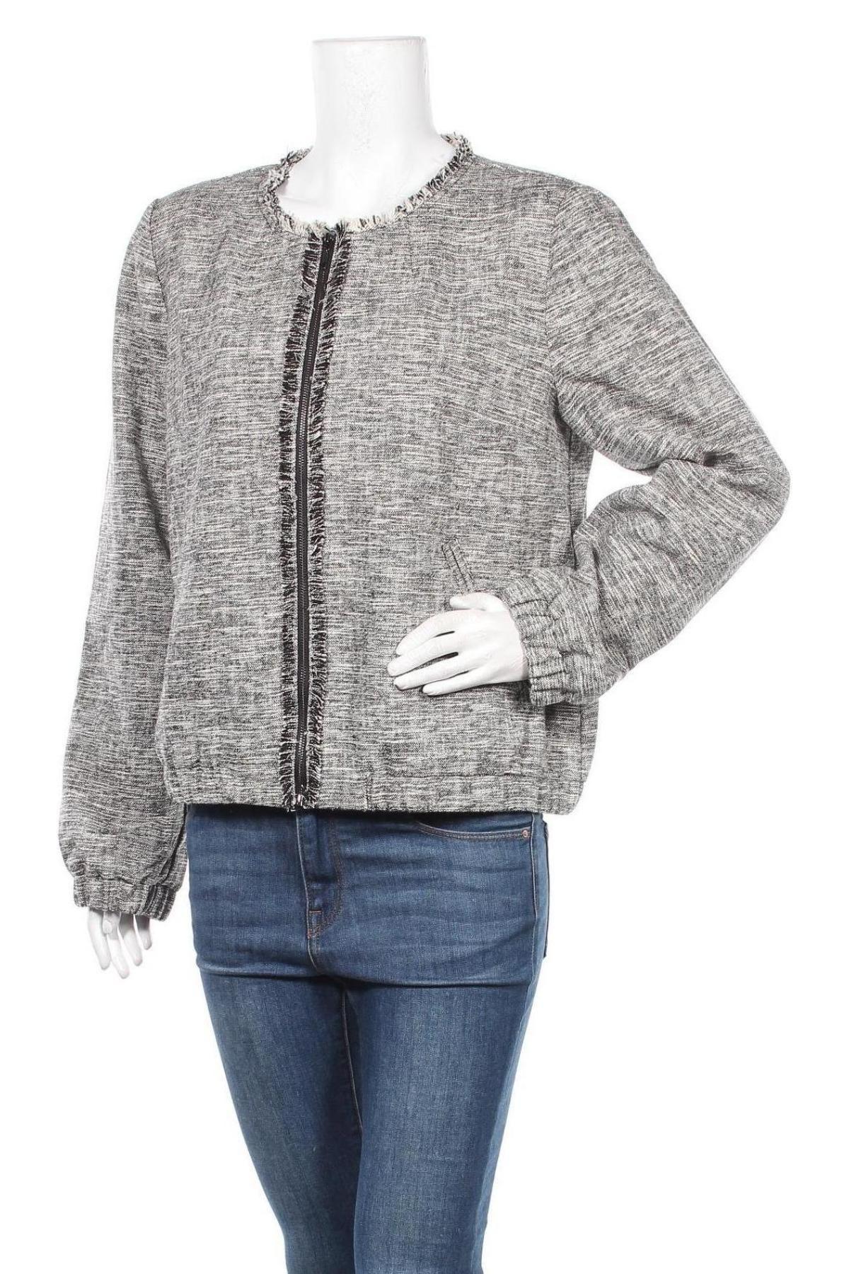 Дамско яке Jacqueline Riu, Размер XL, Цвят Сив, 61% памук, 27% акрил, 11% полиамид, 1% еластан, Цена 25,20лв.