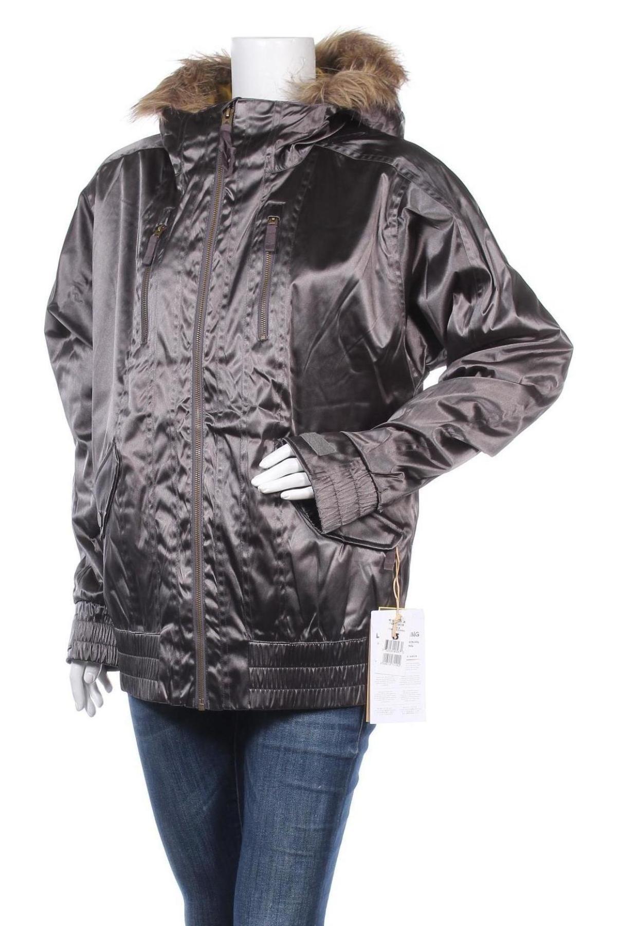 Дамско яке за зимни спортове Burton, Размер M, Цвят Сив, Полиамид, Цена 118,47лв.
