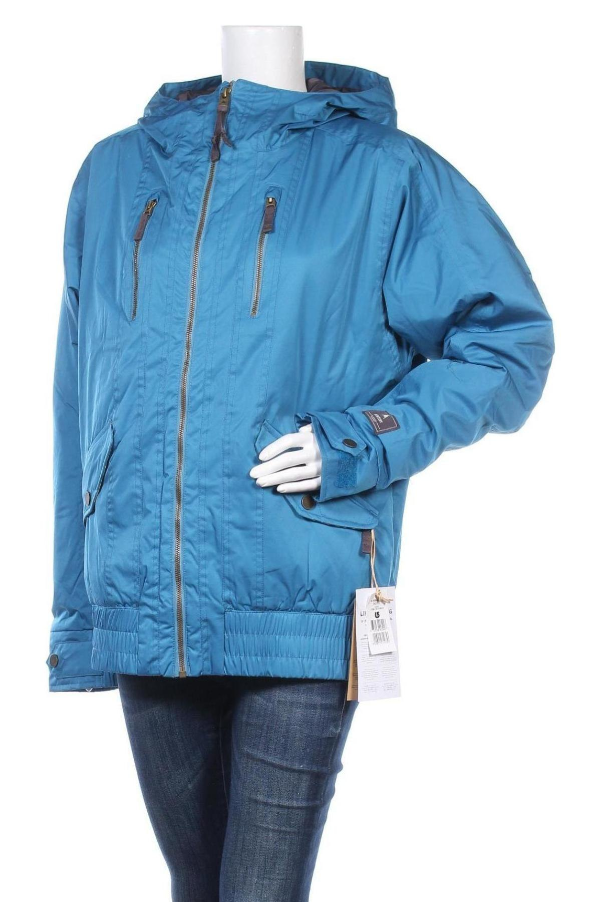 Дамско яке за зимни спортове Burton, Размер L, Цвят Син, Полиестер, Цена 104,70лв.
