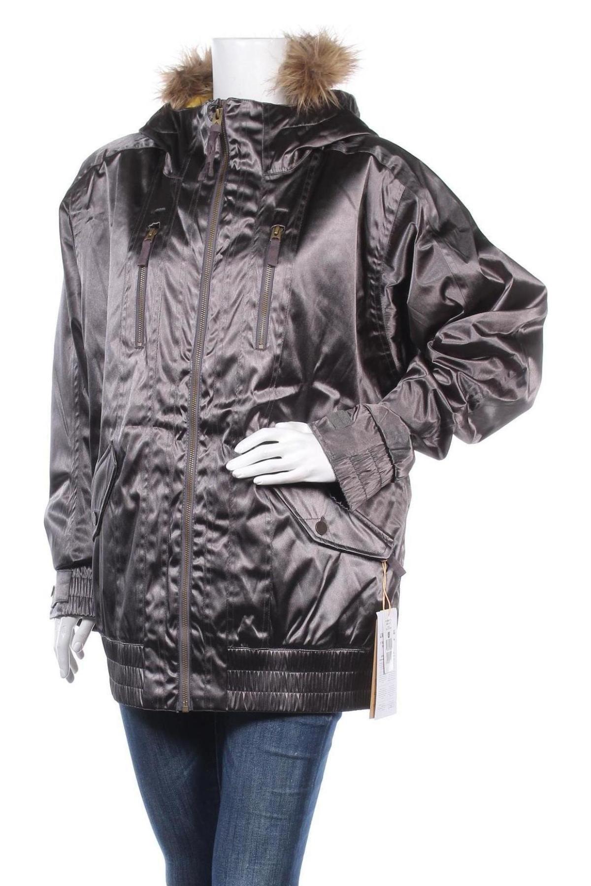 Дамско яке за зимни спортове Burton, Размер XL, Цвят Сив, Полиестер, Цена 118,47лв.