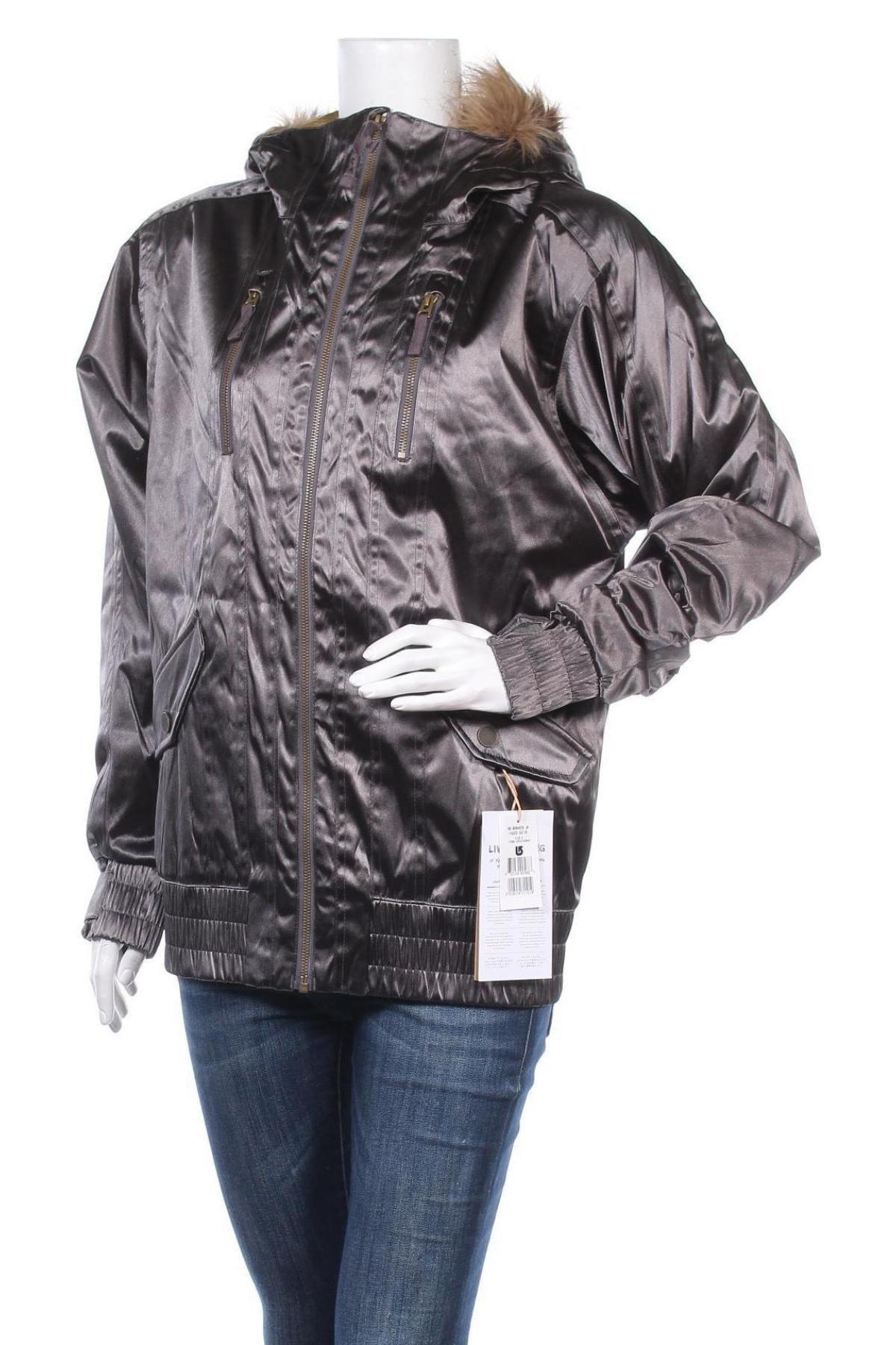 Дамско яке за зимни спортове Burton, Размер S, Цвят Сив, Полиамид, Цена 118,47лв.