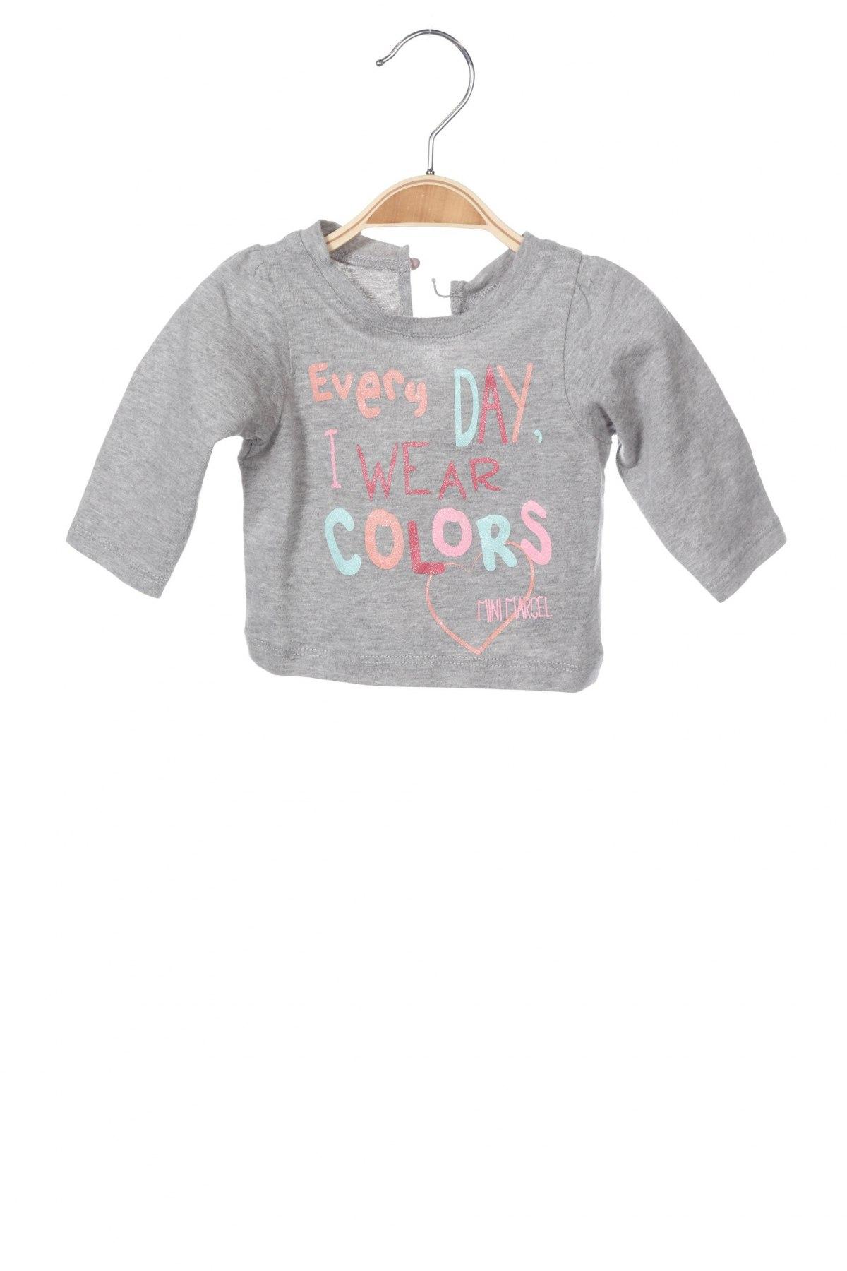 Παιδική μπλούζα Mini Marcel, Μέγεθος 2-3m/ 56-62 εκ., Χρώμα Γκρί, Βαμβάκι, Τιμή 4,64€