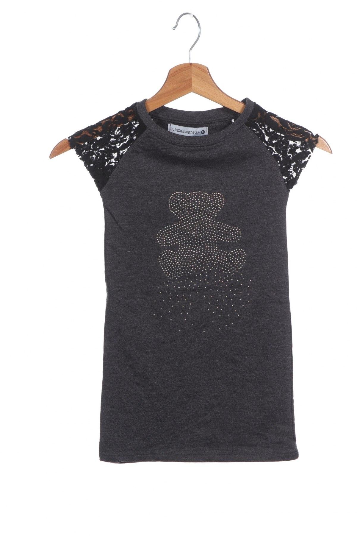 Παιδικό φόρεμα Lulu Castagnette, Μέγεθος 3-4y/ 104-110 εκ., Χρώμα Γκρί, 60% βαμβάκι, 40% πολυεστέρας, Τιμή 11,37€