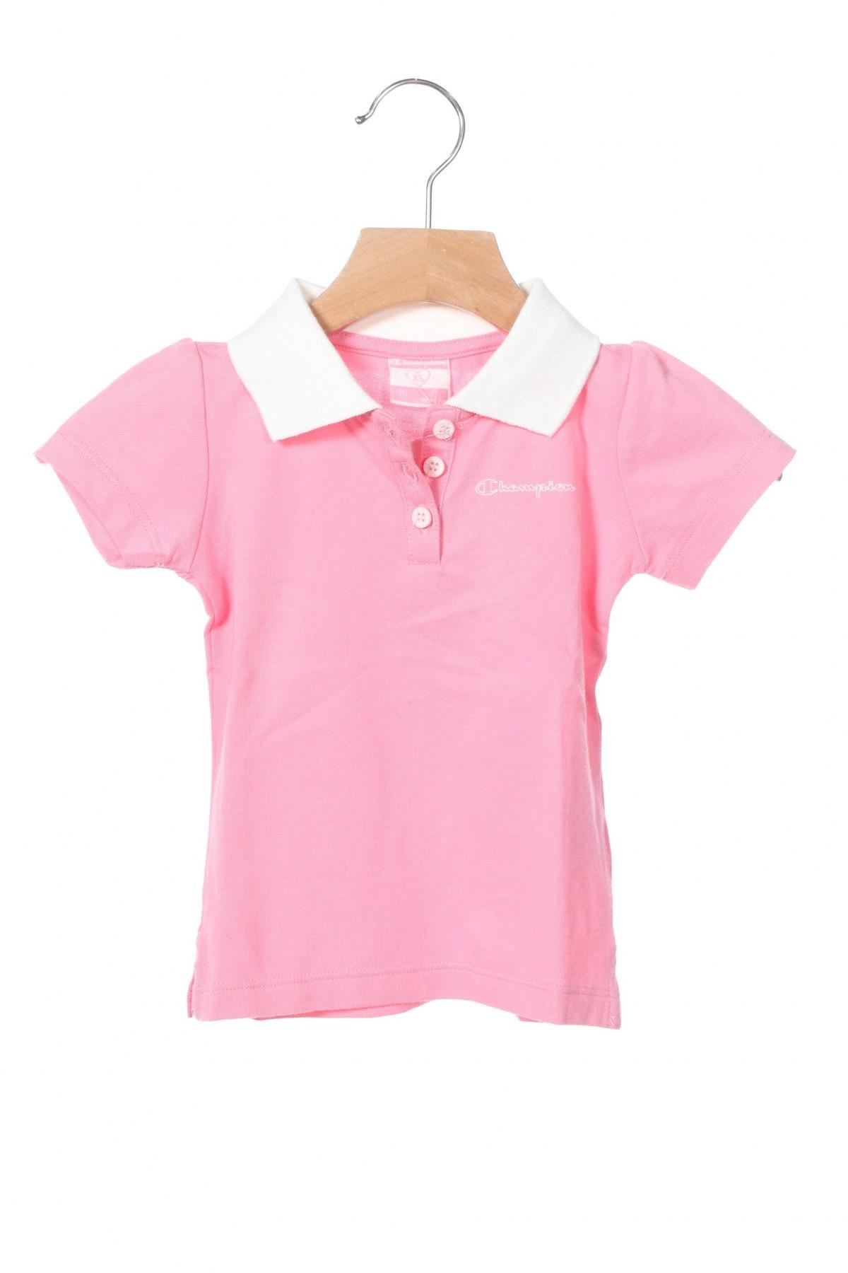 Παιδικό μπλουζάκι Champion, Μέγεθος 6-9m/ 68-74 εκ., Χρώμα Ρόζ , 52% βαμβάκι, 48% πολυεστέρας, Τιμή 9,40€