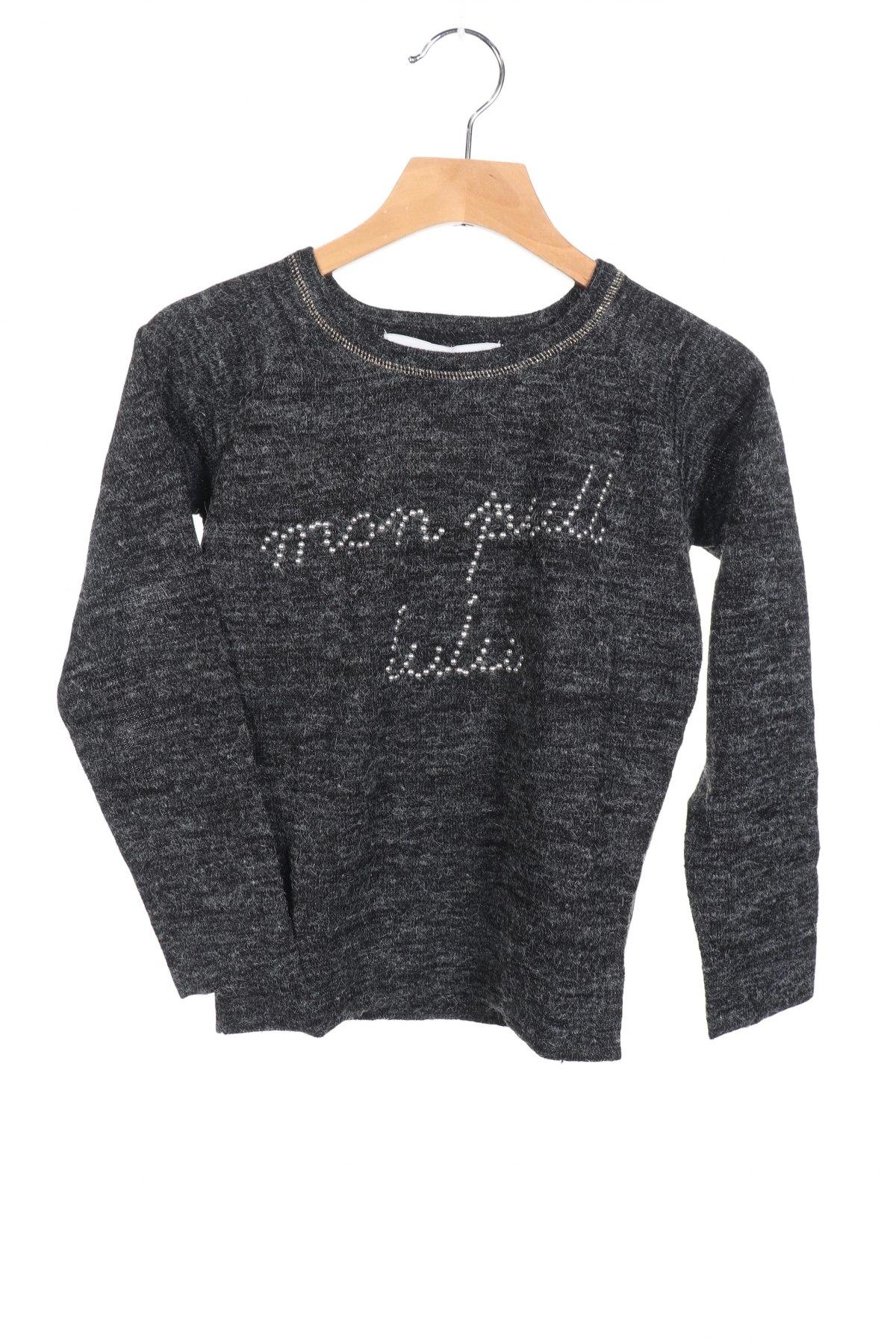 Παιδικό πουλόβερ Lulu Castagnette, Μέγεθος 3-4y/ 104-110 εκ., Χρώμα Γκρί, 80%ακρυλικό, 20% πολυαμίδη, Τιμή 6,19€