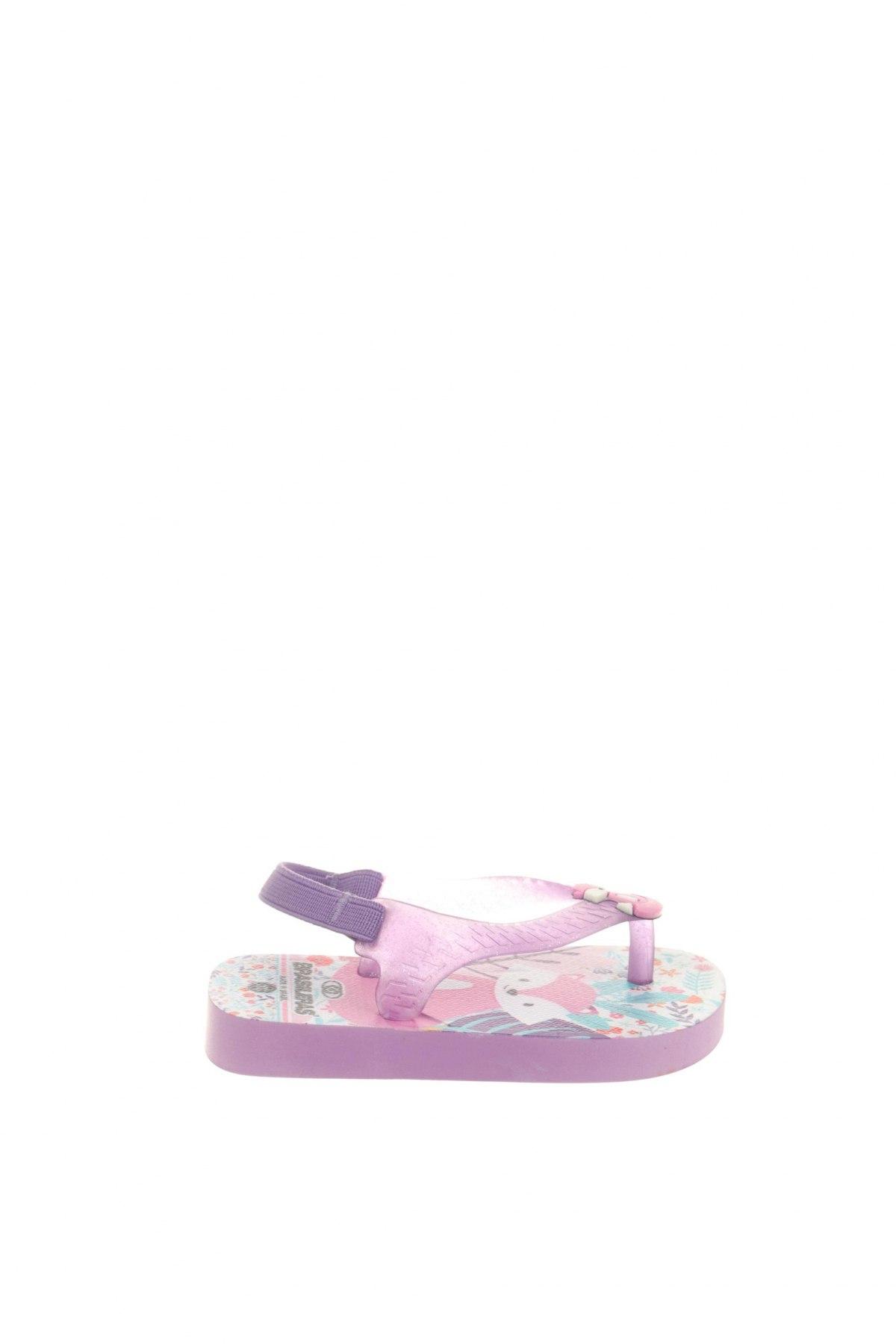 Детски сандали Brasileras, Размер 21, Цвят Лилав, Полиуретан, текстил, Цена 16,00лв.