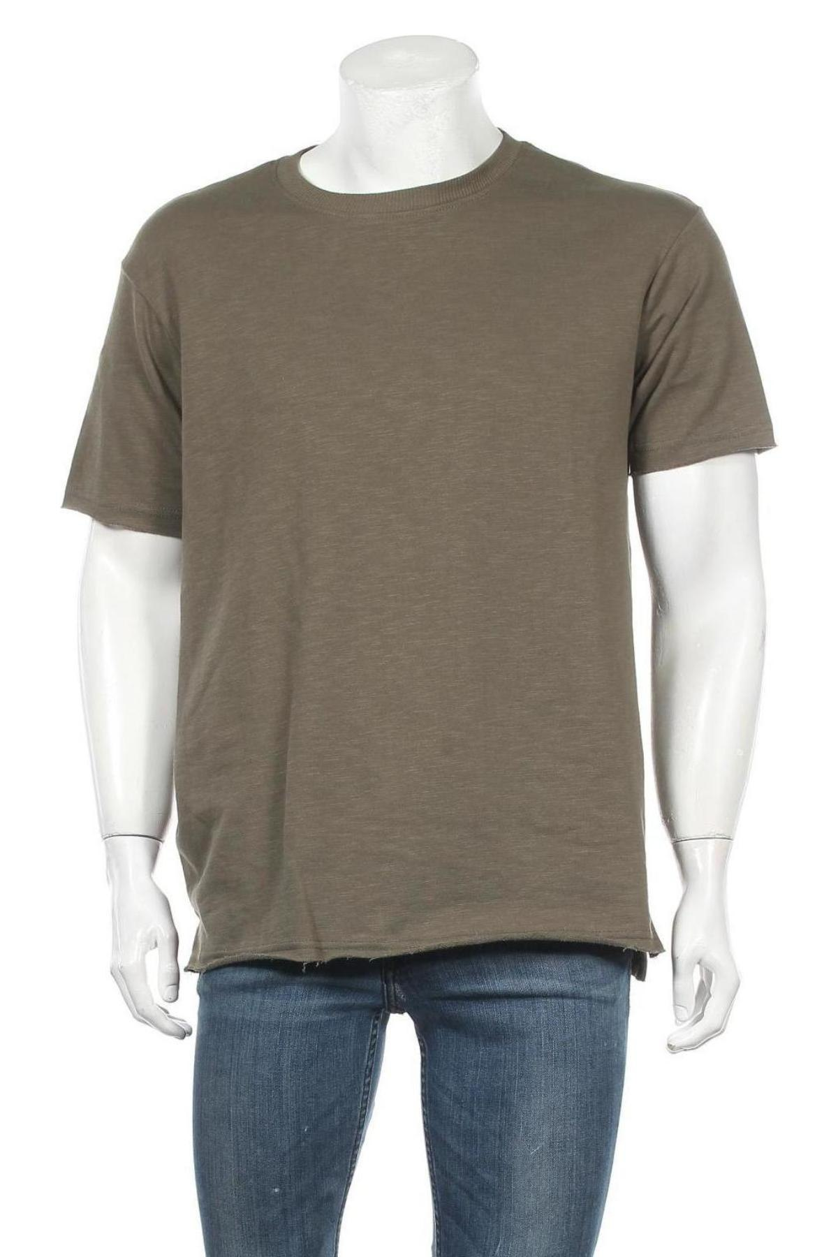 Мъжка тениска Lft, Размер M, Цвят Зелен, 70% памук, 30% полиестер, Цена 24,00лв.