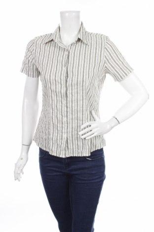 Дамска риза Multiblu, Размер S, Цвят Сив, 53% памук, 31% полиамид, 6% полиестер, 6% вискоза, 4% еластан, Цена 5,00лв.