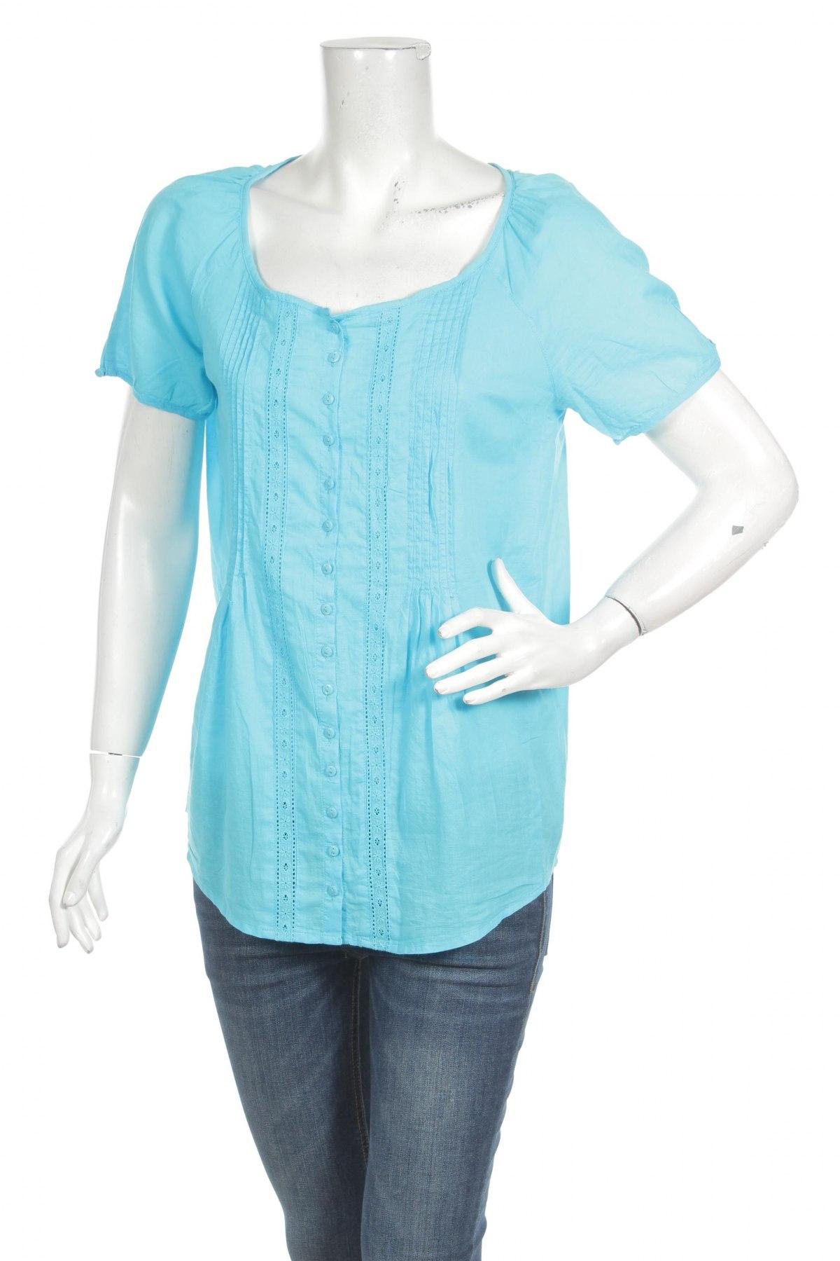 Γυναικείο πουκάμισο Okay, Μέγεθος S, Χρώμα Μπλέ, Τιμή 9,28€