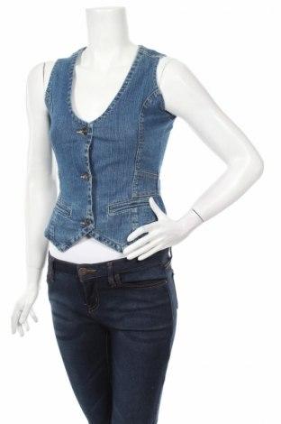 Дамски елек, Размер XS, Цвят Син, 98% памук, 2% еластан, Цена 12,60лв.