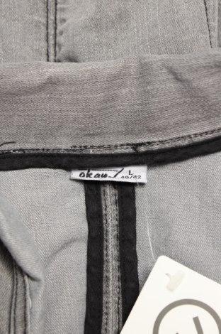 Дамски елек Okay, Размер M, Цвят Сив, 80% памук, 18% полиестер, 2% еластан, Цена 18,70лв.